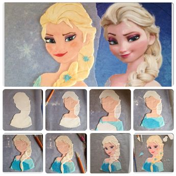 fondant elsa face tutorial