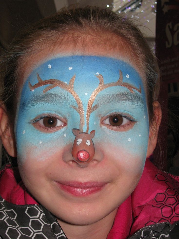 reindeer face painting tutorial