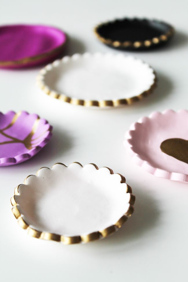 polymer clay dishes tutorial