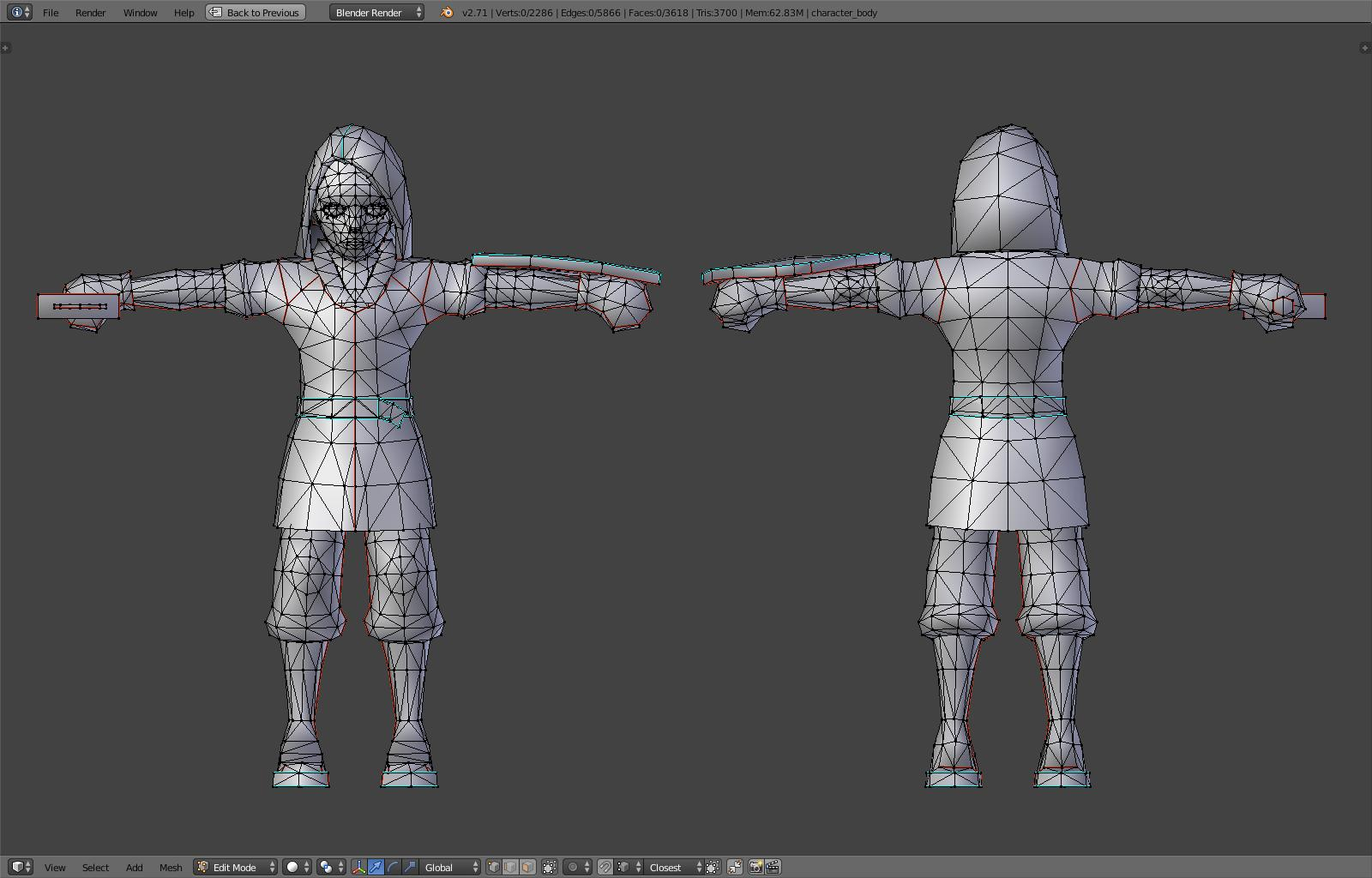 blender low poly character tutorial