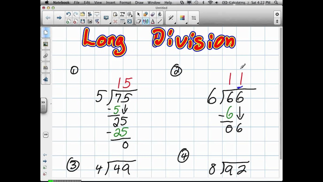 long division tutorial video