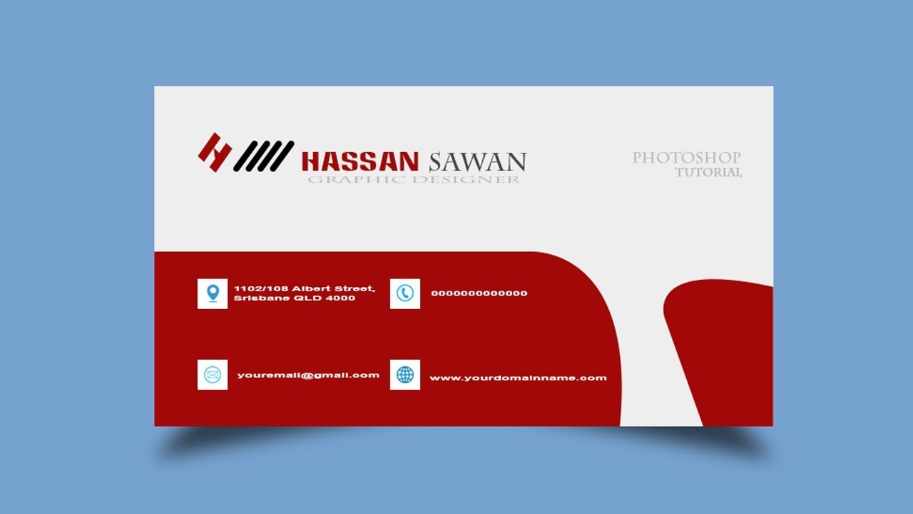 how to create visiting card in photoshop tutorial